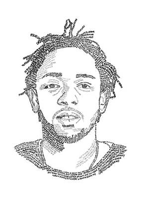 Kendrick Lamar Lyric Art Print by Class of '93