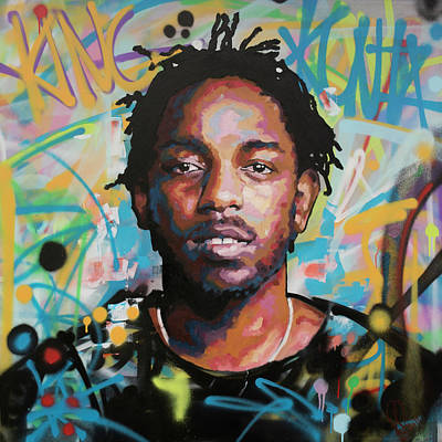 Kendrick Lamar Art Print by Richard Day