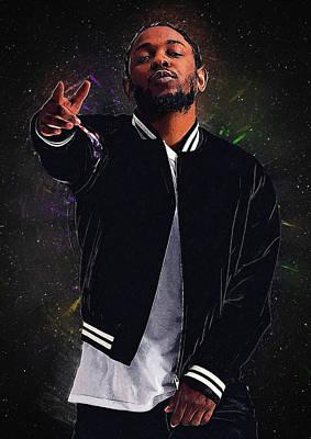 Candy Digital Art - Kendrick Lamar by Semih Yurdabak