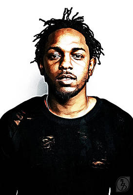 Digital Art - Kendrick Lamar by The DigArtisT
