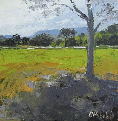Art Print featuring the painting Kenilworth Landscape Queensland Australia by Chris Hobel
