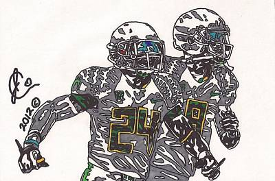 Kenjon Barner And Marcus Mariota Original by Jeremiah Colley