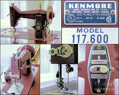 Photograph - Kenmore Rotary Sewing Machine E6354 Model 117 600  by Janice Drew