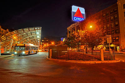 Kenmore Square Green Line Stop Art Print by Toby McGuire