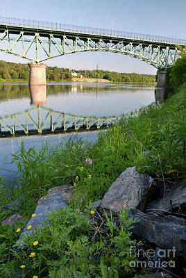 Photograph - Kennebec River, Augusta, Maine #8347-8349 by John Bald