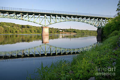 Photograph - Kennebec River Reflections, Augusta, Maine #8340-8341 by John Bald