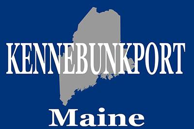 Photograph - Kennebunk Maine State City And Town Pride  by Keith Webber Jr
