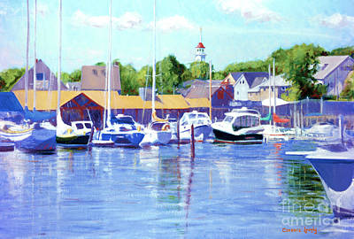 Painting - Kennebunk River Blues by Candace Lovely