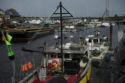 Kennebunkport Harbor In Early Winter Art Print