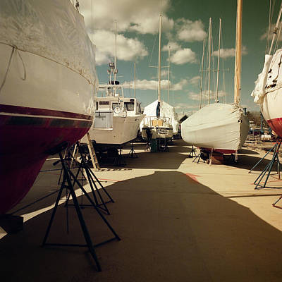 Photograph - Kennebunk...springtime In The Boatyard by Samuel M Purvis III