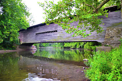 Covered Bridge Photograph - Kennedy Covered Bridge In Chester County Pennsylvania by Bill Cannon