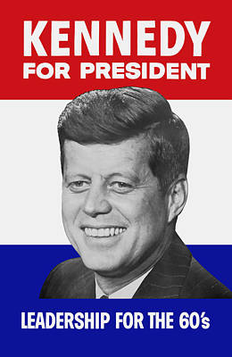 Kennedy For President 1960 Campaign Poster Art Print by War Is Hell Store