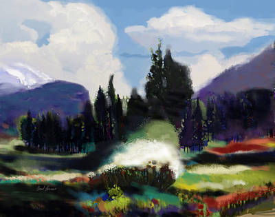 Cedars Painting - Kennedy Meadows by Brad Burns