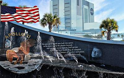 John F Kennedy Space Center Photograph - Kennedy Space Center Titusville Florida by Barbara Chichester