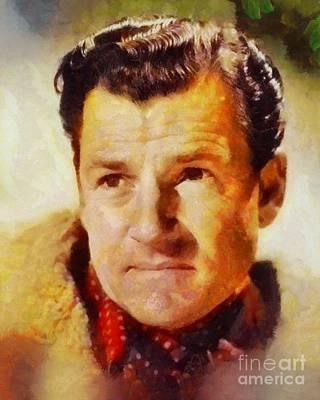 Kenneth Moore, Vintage British Actor Art Print by Sarah Kirk
