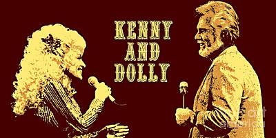 Kenny And Dolly Poster Art Print by Pd