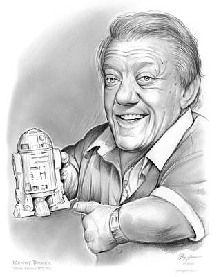 R2d2 Drawing - Kenny Baker R2d2 by Greg Joens