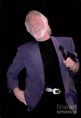 Photograph - Kenny Rogers Painting by Concert Photos