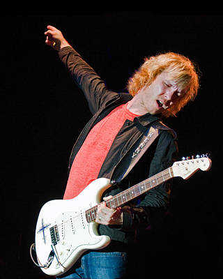 Photograph - Kenny Wayne Shepherd With Fender Artic White Signature Stratocas by Ginger Wakem
