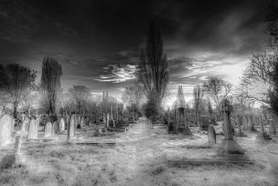 Photograph - Kensal Green Cemetery Sunset by David Pyatt