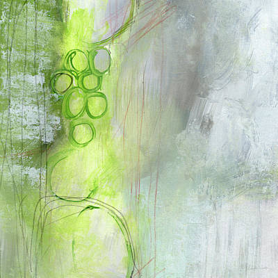 Green Mixed Media - Kensho- Abstract Art By Linda Woods by Linda Woods