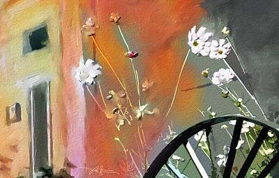 Wagon Wheels Digital Art - Kensington Market Floral Detail by Bob Salo