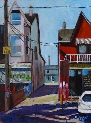 Painting - Kensington Market Laneway by Diane Arlitt