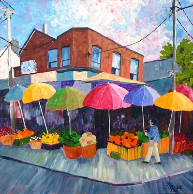 Painting - Kensington Market by Diane Arlitt