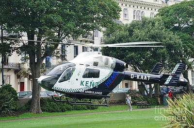 Photograph - Kent Air Ambulance In Sussex by David Fowler