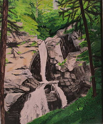 Painting - Kent Falls by Hilda and Jose Garrancho