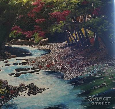 Kentucky   Creek Art Print by Vickie Brooks