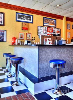 Photograph - Kentucky Blue Diner by Mel Steinhauer