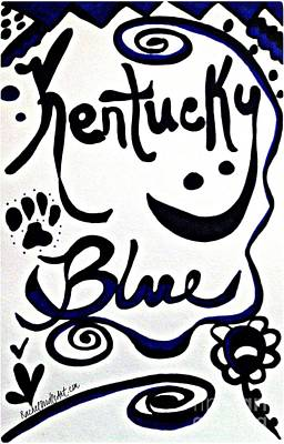 Drawing - Kentucky Blue by Rachel Maynard