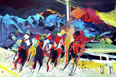 Painting - Kentucky Derby Day by John Jr Gholson