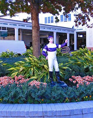 Tourist Attraction Digital Art - Kentucky Derby Winner's Silks Statue by Marian Bell