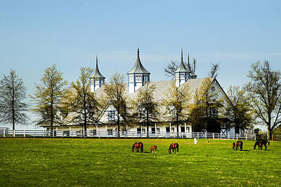 Revised Kentucky Horse Barn Hotel 2 Art Print