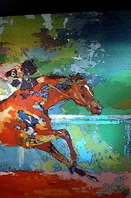 Kentucky Horse Park -  Mural Of Horse Race 2 Art Print
