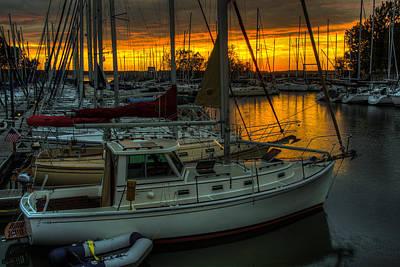 Photograph - Kentucky Lake Sunset by Walt Sterneman