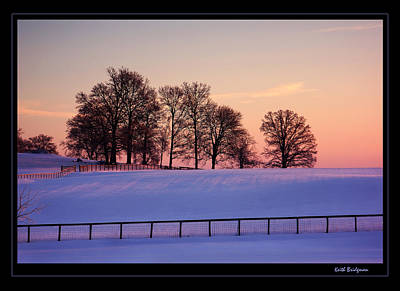 Kentucky Morning Snow Art Print by Keith Bridgman