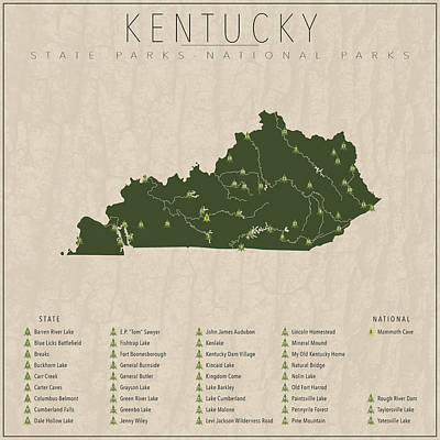 Teton Digital Art - Kentucky Parks by Finlay McNevin
