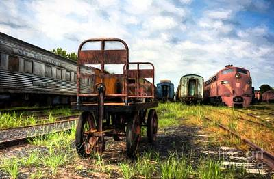 Photograph - Kentucky Railroad Yard by Mel Steinhauer