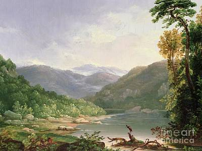 Mountain Painting - Kentucky River by Thomas Worthington Whittredge
