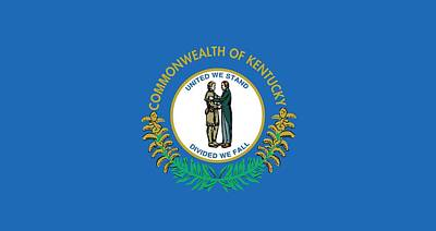 Kentucky State Flag Print by American School