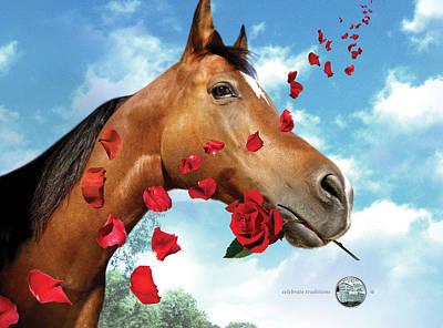 Kentucky Horse Park Digital Art - Kentucky State Quarterama - Art by Garrett Burke