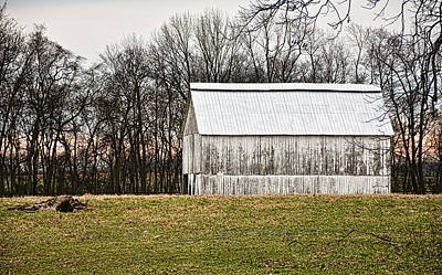 Photograph - Kentucky Tobacco Barn In White by Greg Jackson