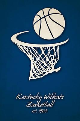 Kentucky Wildcats Basketball Art Print by Joe Hamilton