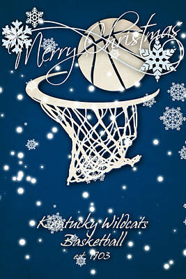 Kentucky Wildcats Christmas Card Art Print by Joe Hamilton