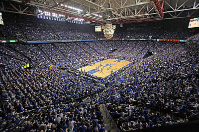 Kentucky Wildcats Rupp Arena Art Print