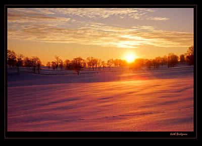 Kentucky Winter Sunrise Art Print by Keith Bridgman