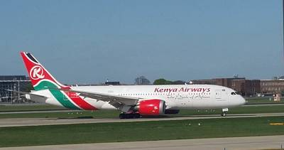 Kenya Airways Boeing 787 Art Print